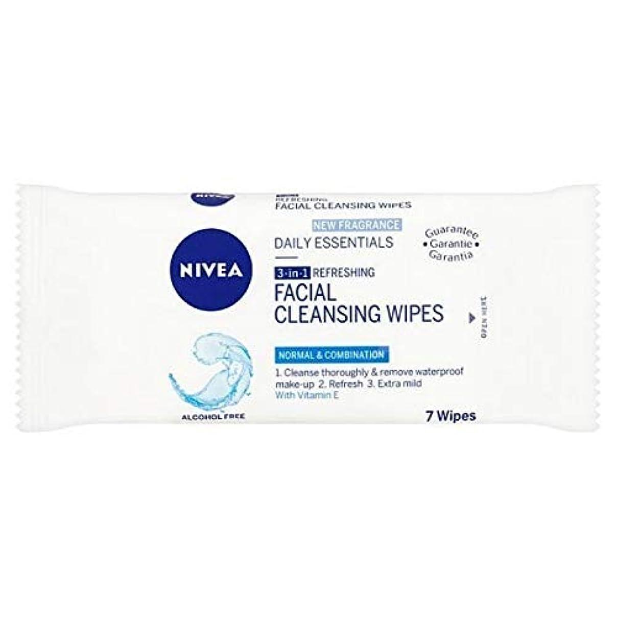 食欲証人ドラム[Nivea ] ニベアさわやかなクレンジング顔は、7つのワイプワイプ - NIVEA Refreshing Cleansing Face Wipes, 7 wipes [並行輸入品]