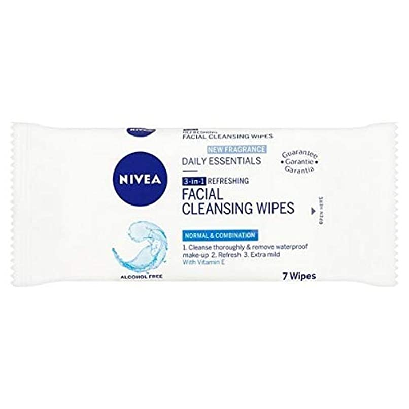 [Nivea ] ニベアさわやかなクレンジング顔は、7つのワイプワイプ - NIVEA Refreshing Cleansing Face Wipes, 7 wipes [並行輸入品]