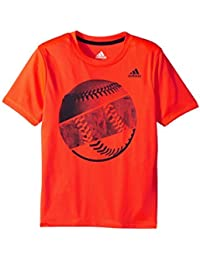 (アディダス) adidas キッズTシャツ Hacked Sport Ball Tee (Toddler/Little Kids) Red/Orange 5 Little Kids (5歳) One Size