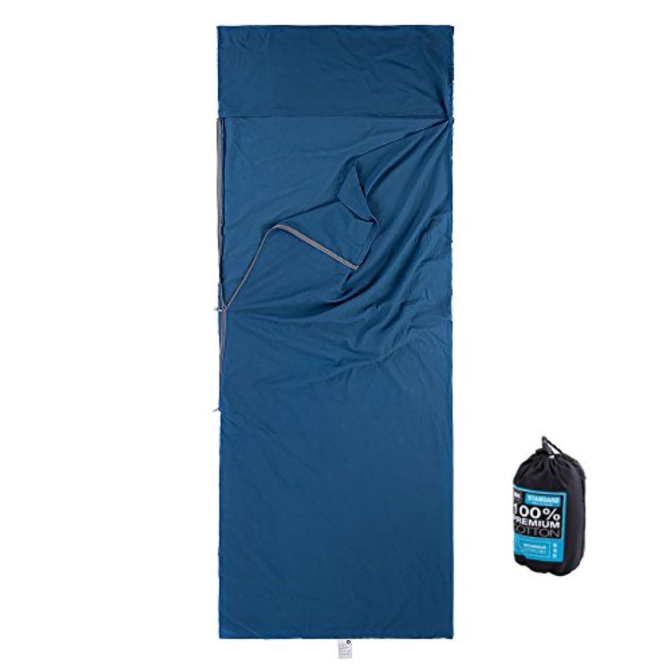 憂慮すべきテラス湿地NatureHike(ネイチャーハイク) 寝袋ライナー スリープサック コットンライナー [一人用]Mサイズ/ブルー【正規品】 NH15S012-D-M/BL