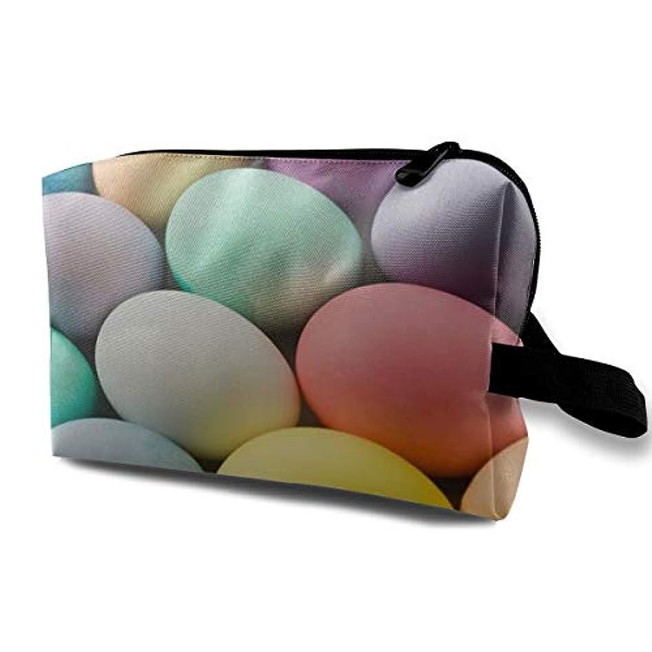 義務付けられた平行ツールEaster Eggs 01 収納ポーチ 化粧ポーチ 大容量 軽量 耐久性 ハンドル付持ち運び便利。入れ 自宅?出張?旅行?アウトドア撮影などに対応。メンズ レディース トラベルグッズ