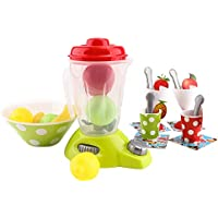 Fenteer キッチン 調理道具 ごっこ遊び 子供 果物モデル ジューサー スプーン カップ 教育玩具 27点
