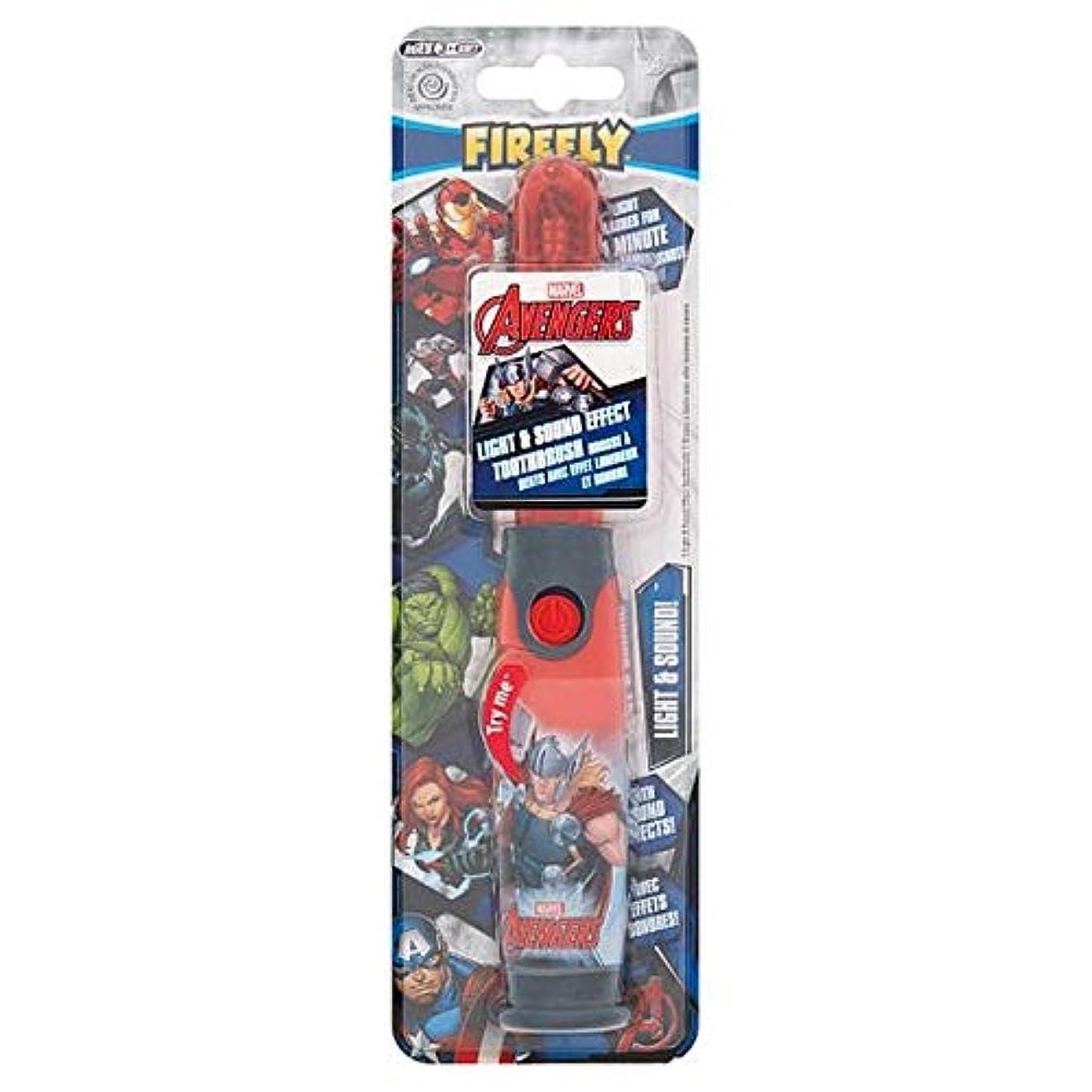 危険嫌な秀でる[Firefly ] アベンジャーズホタルの光と音の歯ブラシ - Avengers Firefly Light And Sound Toothbrush [並行輸入品]