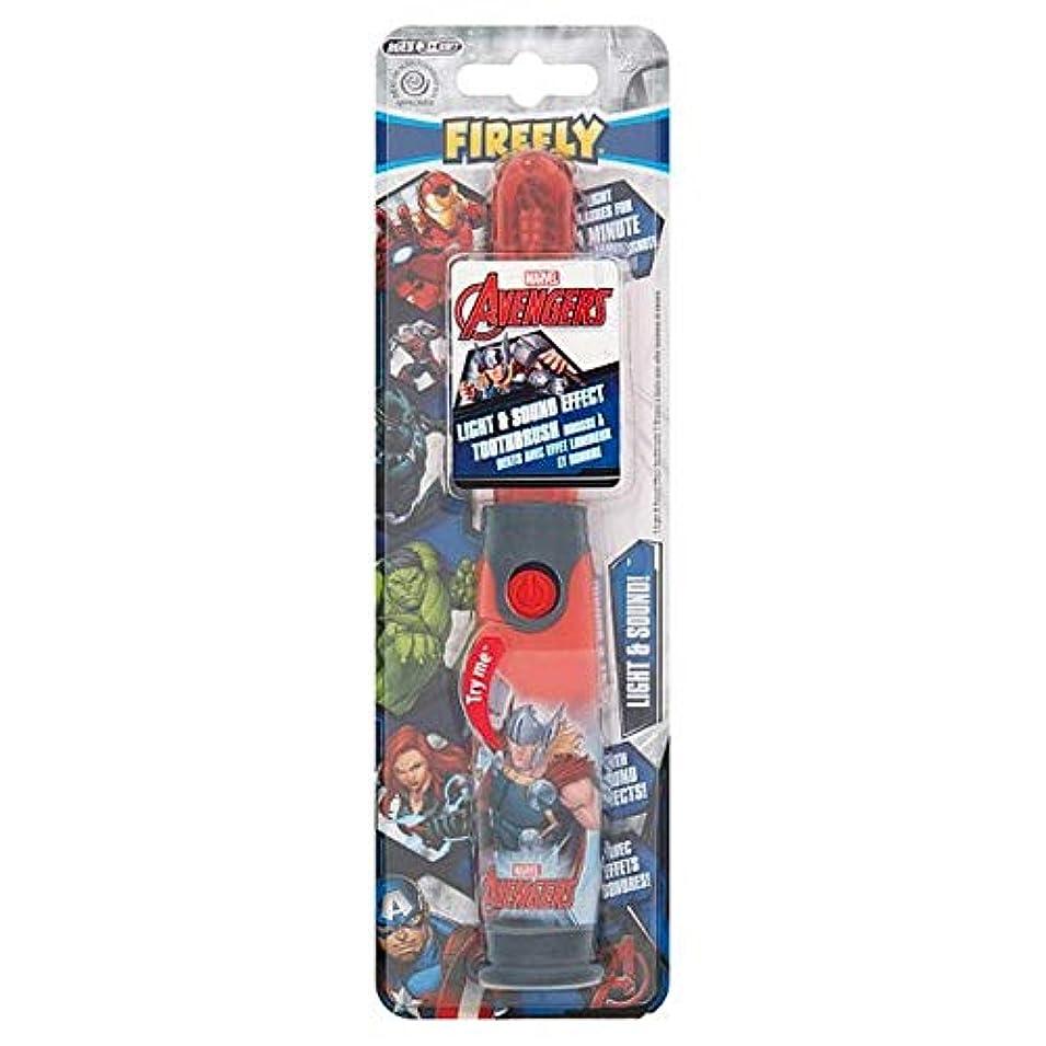 すみません測定雪の[Firefly ] アベンジャーズホタルの光と音の歯ブラシ - Avengers Firefly Light And Sound Toothbrush [並行輸入品]