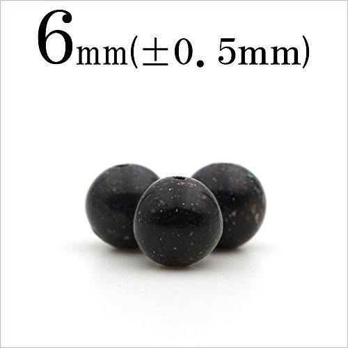 t1504 【1粒売り】<ホンジュラス産 ブラックマトリックスオパール>丸ビーズ 6mm 10060694