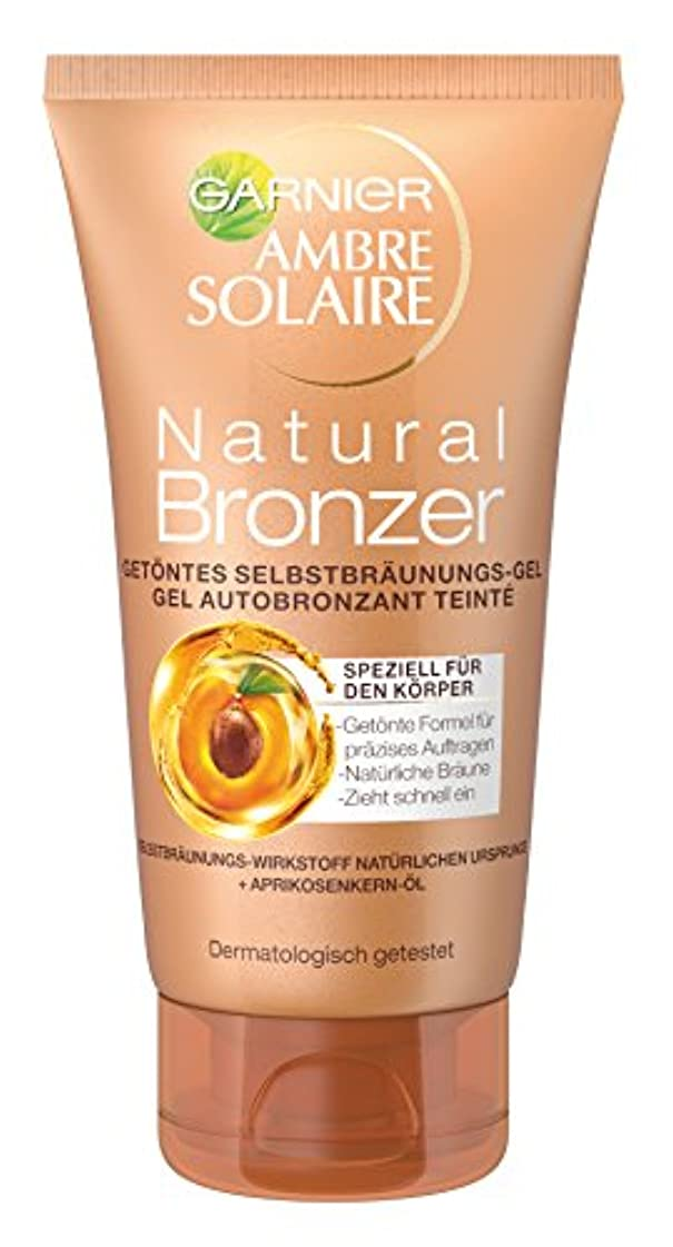 複製する狐分析Garnier Ambre Solaire Natural Bronzer Getöntes Selbstbräunungs-Gel, für eine natürliche Bräune, präzises Auftragen...