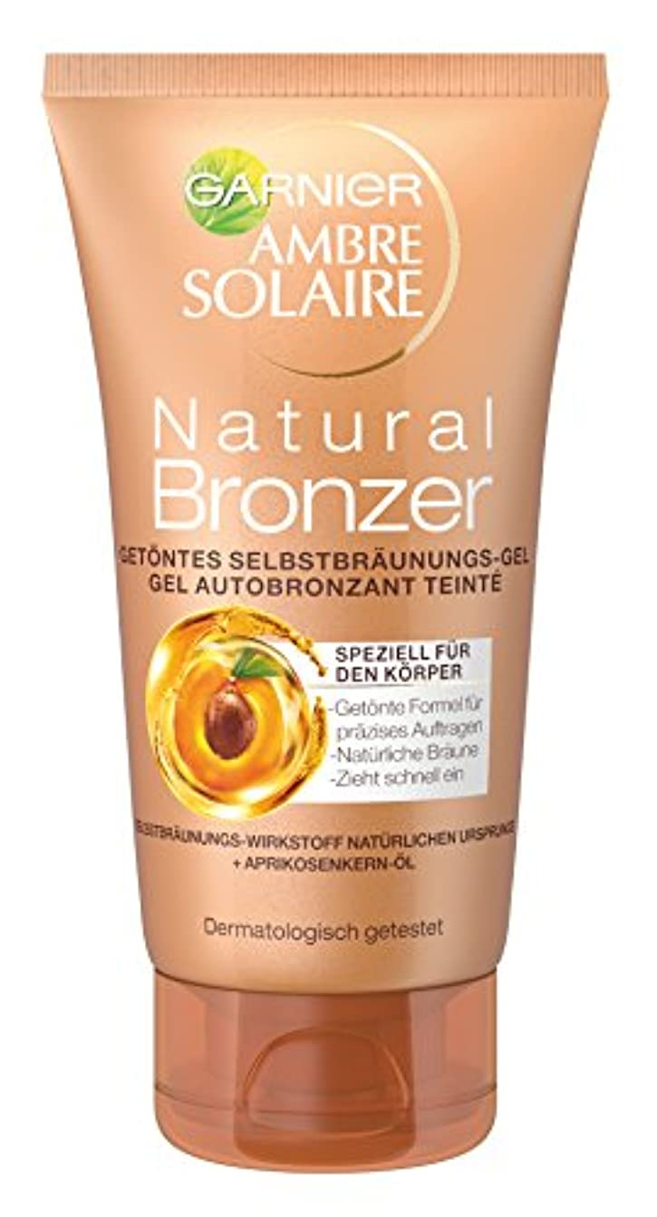 緊急判読できない見る人Garnier Ambre Solaire Natural Bronzer Getöntes Selbstbräunungs-Gel, für eine natürliche Bräune, präzises Auftragen...