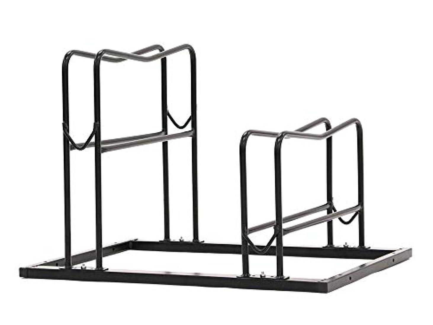 スーツケース不明瞭可決Vélo Line(ベロライン) 2台用段差付き室外用自転車スタンド 86949-0099