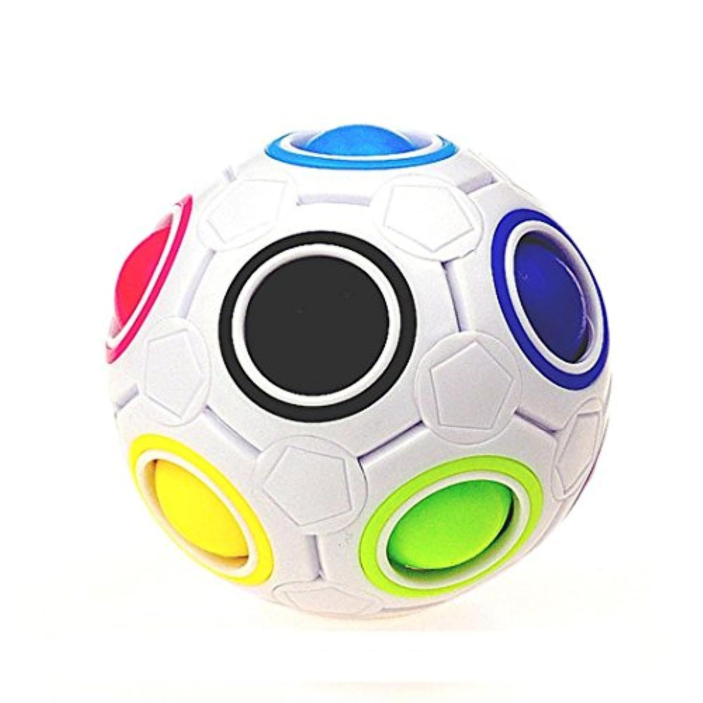 xuanou 2017ファッションレインボーマジックボールプラスチックキューブツイストパズルおもちゃ子供の教育玩具Teenagers大人用応力Reliever