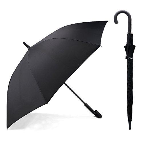 二層傘骨構造 Valife 長傘 大雨対応 テフロン撥水 グラスファイバー ワンタッチ 梅雨 頑丈 紳士傘 ゴルフ用傘 レディース メンズ