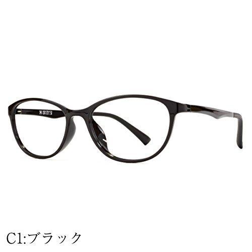 MIDI-ミディ ブルーライトカットメガネ レディース 上品なフォックススタイル (select-4) PCメガネ ブルーライトカット おしゃれ レディース パソコン用メガネ フォックス 超軽量 (ブラック)