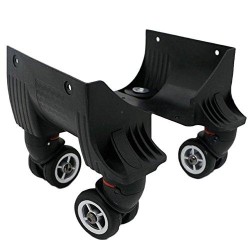 崇明 スーツケース ホイール 修理 部品 トラベルバッグ ラゲッジ 交換 取替え キャスター 代用品 V037 (Small 1セットホイール(1ペア))