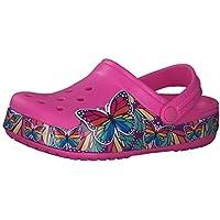 Crocs Kids Fun Lab Multi Butterfly Light Clog Electric Pink Croslite Child Clogs Sandals