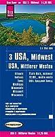Reise Know-How Landkarte USA 03, Mittlerer Westen / USA, Midwest (1.1.250.000) : Illinois, Indiana, Iowa, Michigan, Minnesota, Missouri, Wisconsin 1:1250000: reiss- und wasserfest (world mapping project)