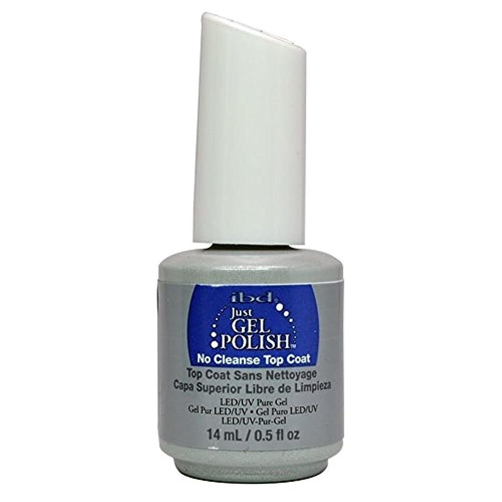 粒子ラリー妥協ibd Just Gel Nail Polish - No Cleanse Top Coat - 14ml / 0.5oz