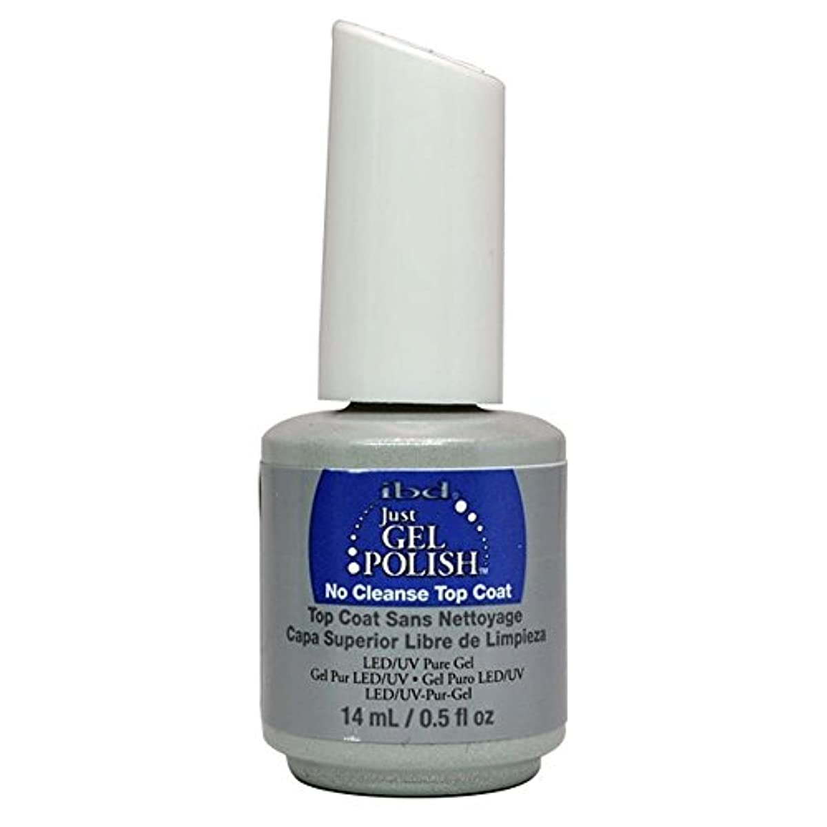 怪物モナリザすすり泣きibd Just Gel Nail Polish - No Cleanse Top Coat - 14ml / 0.5oz