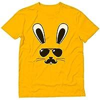 Tstars - キュートバニーフェースギフト 可愛いバニープレゼント ファニーバニーフェースギフト 愉快なバ二ーフェースプレゼント Tシャツ