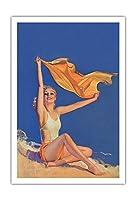 日光 - ピンアップグラマーガール - もともとは1931年7月大学ユーモア雑誌の表紙のための塗装 - によって作成された ロルフ・アームストロング c.1931 - アートポスター - 76cm x 112cm