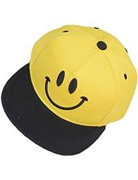 CANTIK 帽子 子供 キャップ キッズ スマイル にこちゃん 男の子 女の子 野球帽 スナップバッグ UV 50 54 4色