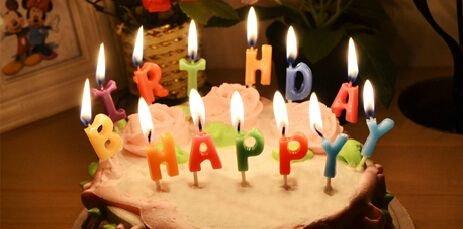 トゥルー・ハート 誕生日キャンドル 【HAPPY BIRTHDAY】ハッピーバースデー ろうそく TZAK-8