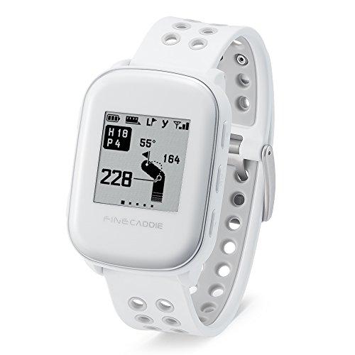 【特別限定セール】ゴルフナビ ゴルフGPS 腕時計型 距離測定器 【IP67防水・超軽量38g・高解像度】ファインキャディ(FineCaddie) M300 (ホワイト)