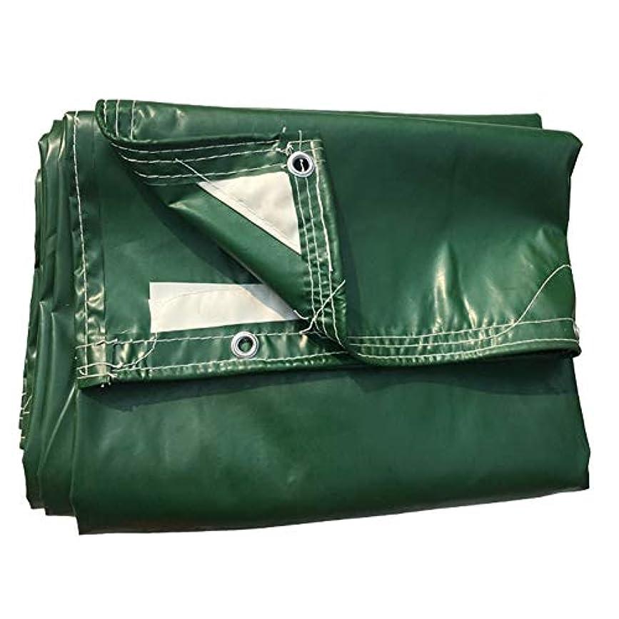 驚かす怒る選択する19-yiruculture 防水布防水シート防水防水シートキャンプマットカーゴ日焼け止め断熱材と耐摩耗性ウッドシェルター小屋布 (Color : 緑, サイズ : 3x4M)