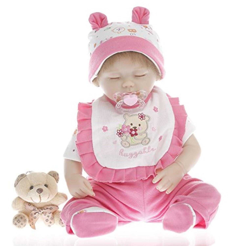 SanyDoll Rebornベビー人形ソフトSilicone 18インチ45 cm磁気Lovely Lifelike Cute Lovely Girl Baby