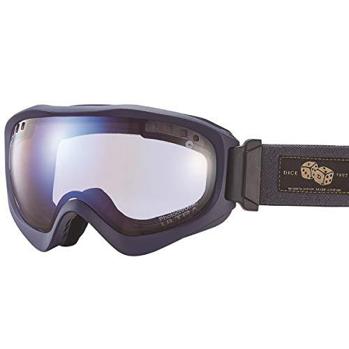 【国産ブランド】DICE(ダイス) スキー スノーボード ゴーグル ジャックポット 紫外線で色が変わる ULTRAレンズ ミラー 調光 プレミアムアンチフォグ JP84265MNV