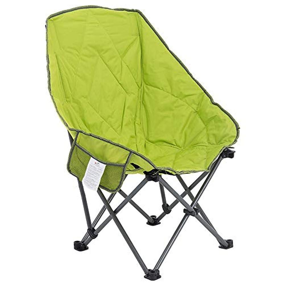 汚染されたゲートウェイリースアウトドアチェア、 折りたたみキャンプチェア軽量 - サイドポケットとキャリーバッグ付き屋外ハイバックキャンプチェア - 260ポンドをサポート (Color : Green)