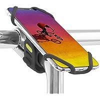 Bone Collection 自転車 スマホ ホルダー 縦 ハンドル ステム 用 バイク シリコン 製 顔認識 指紋識別 OK 4-6.5インチのスマホに対応 iPhone XS Max XR X 8 7 6S Plus Xperia ZX3 Galaxy Note 9 軽量 脱着簡単 持ち運び便利 Bike Tie Pro 2
