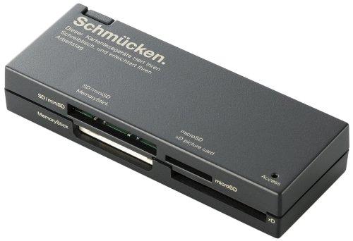 【2010年モデル】エレコム カードリーダー USB2.0 ケーブル収納タイプ ブラック MR-C23BK