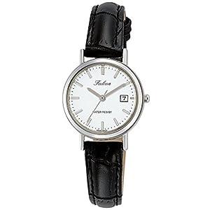 [シチズン キューアンドキュー]CITIZEN Q&Q 腕時計 Falcon ファルコン アナログ 革ベルト 日付 表示 ホワイト D023-301 レディース