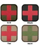 CONDOR(コンドル) タクティカルギア 231 メディックパッチ ブラック/レッド