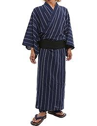 インプローブス ほどけにくい本格派 4点セット 浴衣 ゆかた 下駄 帯 腰紐 和服 和装 綿100% メンズ