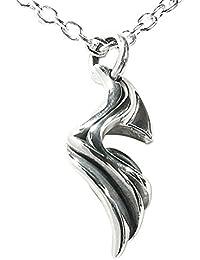 [エムズコレクション] M's collection ウェーブトライバル ヘマタイト シルバーペンダントトップ (チェーンなし) ネックレス MAO-009-H