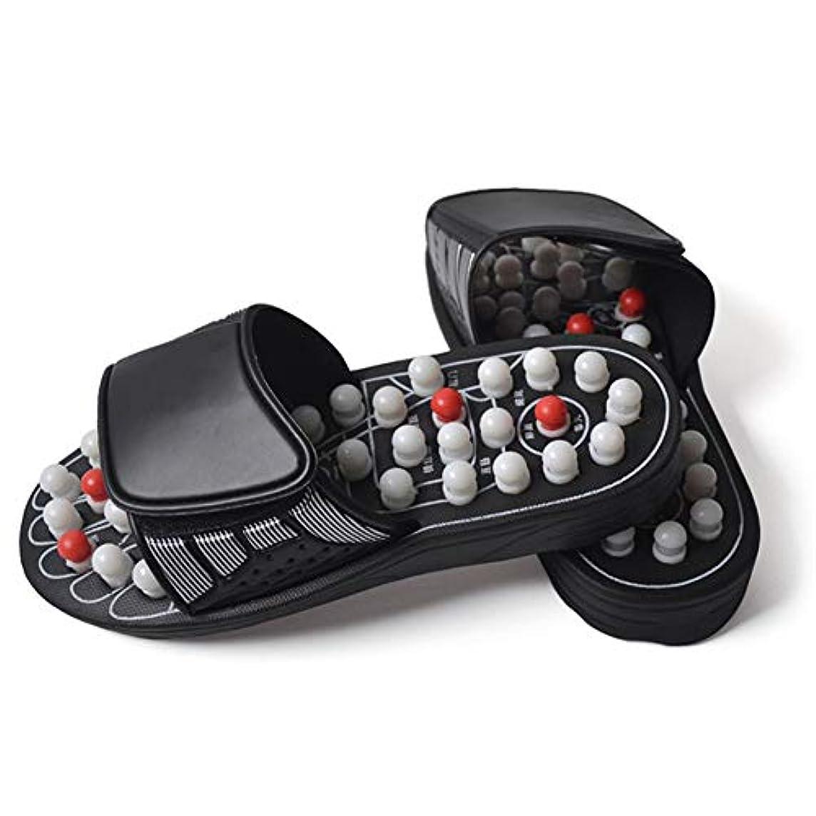 速度バンカーログ太極拳回転マッサージスリッパAcupoint男性と女性の健康スリッパフィットマッサージ健康靴 (XL,白)