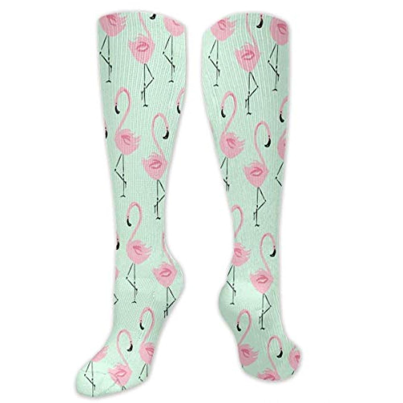 届けるパスタセットアップ靴下,ストッキング,野生のジョーカー,実際,秋の本質,冬必須,サマーウェア&RBXAA Flamingos Socks Women's Winter Cotton Long Tube Socks Knee High Graduated...