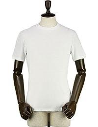 GIRELLI BRUNI ジレッリブルーニ メンズ リネン ストレッチ スラブ クルーネック 半袖 Tシャツ L030CA WHITE (ホワイト)