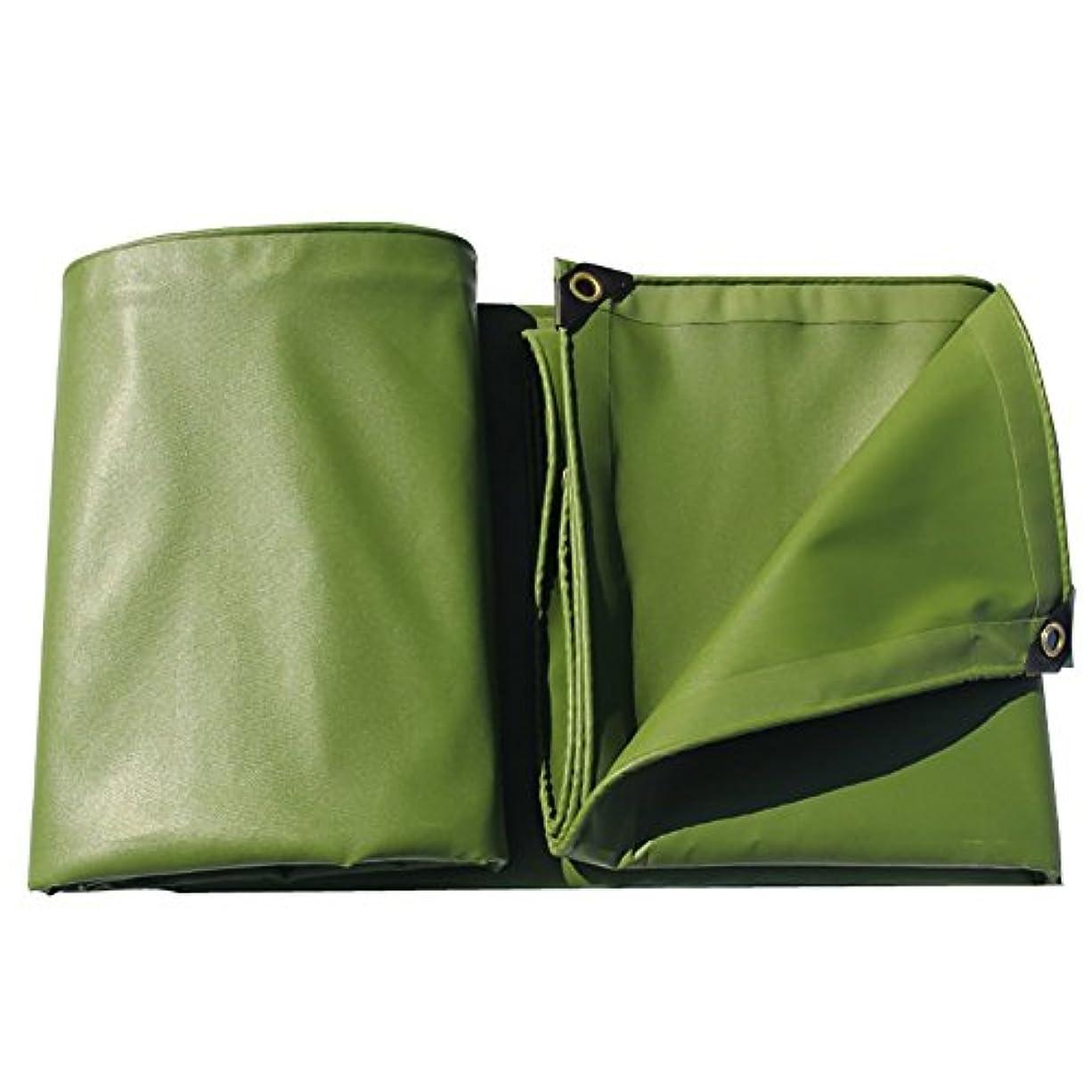 遠近法オンスアロングLixingmingqi 防水頑丈な緑の日焼け防止防塵および耐久の日よけの防水シートシート600g /㎡