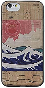 Cork Wood Case Compatible with iPhone by Reveal Shop - Natural Eco-Friendly Cork Leather w/Japanese Wood Block