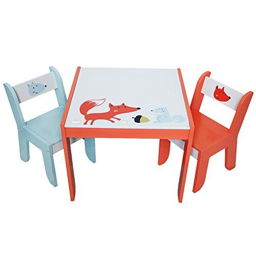Labebe キッズテーブル&チェアセット 机&椅子セット 絵画/読書/リビング学習/グループプレー - ホワイトフォックス