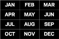 MAGNETS,12 MONTHS,12PK,BK