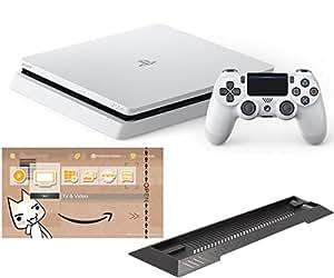 PlayStation 4 グレイシャー・ホワイト 500GB (CUH-2000AB02) 【Amazon.co.jp限定】アンサー PS4用縦置きスタンド 付 + オリジナルカスタムテーマ 配信