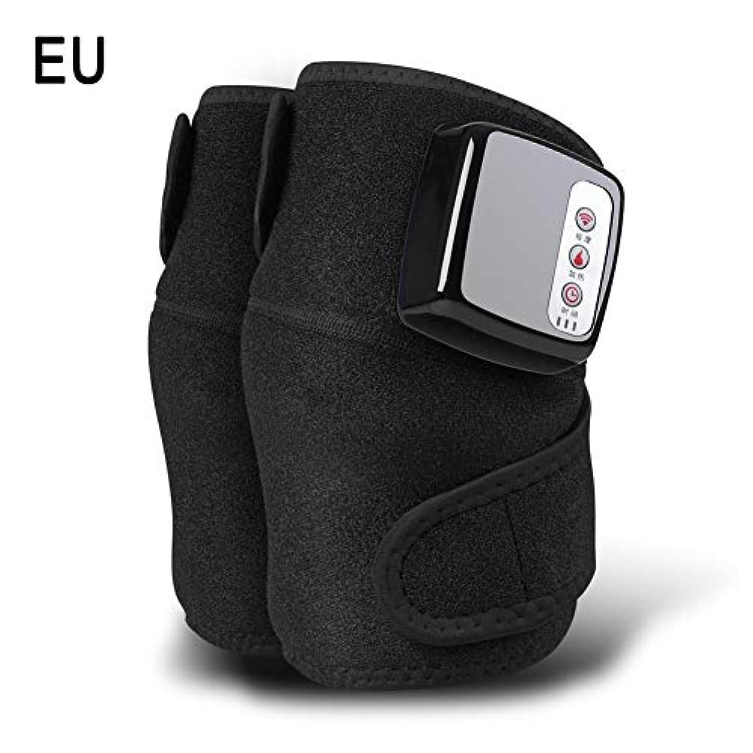 に慣れスライム完璧膝マッサージャー、ホットコンプレス、振動、多機能充電式発熱膝マッサージャー、暖かい膝関節、古い冷たい脚