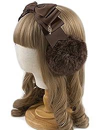[レジーナ] LEGINA リボン型 耳当て付きカチューシャ イヤーマフ 選べる5カラー 高品質 ゴシック?ゴスロリファッションに 女性用アクセサリー [CS-LE-0630]