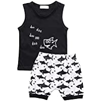 Nwada Newborn Baby Boy Clothes Toddler Boys Outfits Sets 2pcs Vest Tops and Shorts Infant Summer Clothing