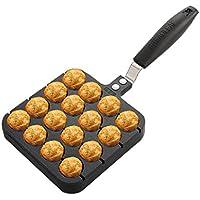 16穴TakoyakiグリルパンOctopus Small Balls Baking Pan調理ベーキング金型ホームキッチン料理ツールブラック