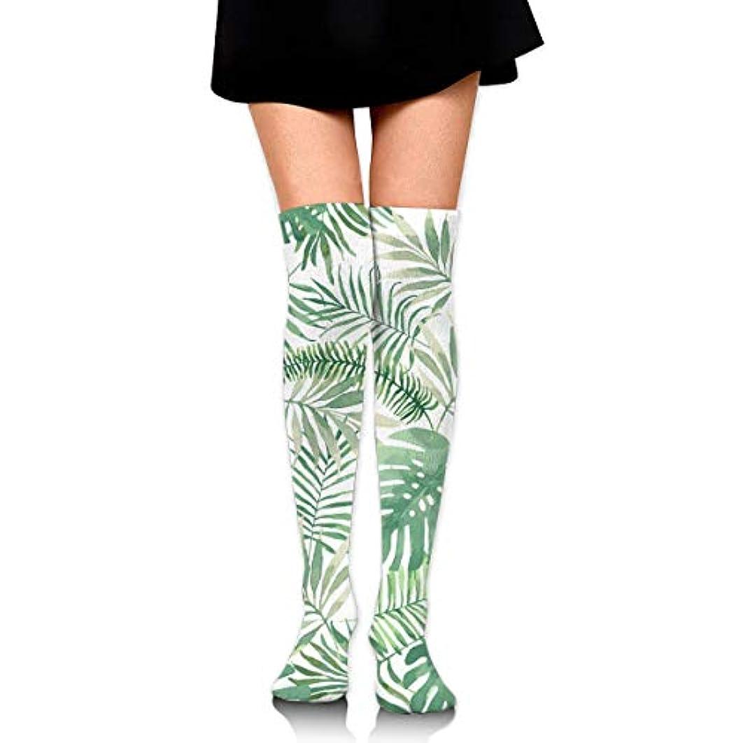 サラミアジャ継承MKLOS 通気性 圧縮ソックス Breathable Thigh High Socks Over Exotic Psychedelic Print Compression High Tube Thigh Boot Stockings...