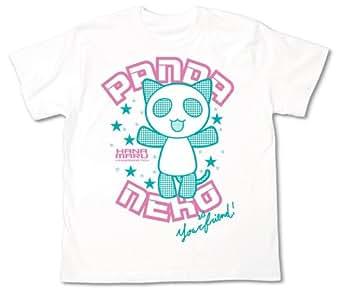 はなまる幼稚園 ぱんだねこ Tシャツ (キッズ用) ホワイト サイズ:130cm