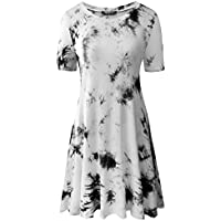 Zero City Women's Zero City Short Sleeve Cotton Swing Tunic T-Shirt Dress